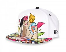 Tokidoki Men Rad Chick Snapback Cap Hat White-5115