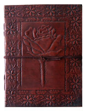 Handmade Rose Diary Embossed Vintage Look Leather Journal Sketchbook Notebook8x6