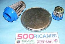 FIAT 500 F/L/R 126 KIT 3PZ FILTRO ARIA SPORTIVO CONICO CARBURATORE WEBER + TAPPO
