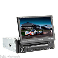 """1 DIN 7"""" Touch Screen In dash Deck Car Stereo DVD Player Bluetooth TV Radio Ipod"""