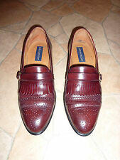 Giorgio Brutini Men's Burgandy Brogue Buckle Loafer 100% leather UK12 shoe