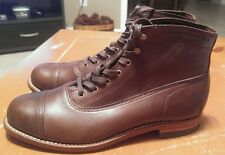 New Men's WOLVERINE 1000 Mile Rockford - W05293 Cap-Toe Brown Boot Made In USA
