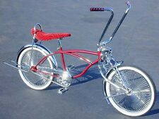 "LOWRIDER BICYCLE 20"" BURGUNDY 144 SPOKE LOWRIDER BIKE"