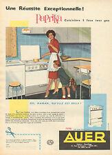 Publicité  ... AUER  cuisine chauffage  PAPRIKA  cuisinière 3 feux tous gaz