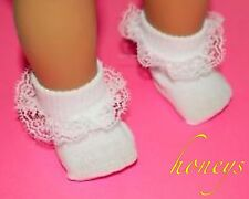 For American Girl & Bitty Dolls Clothes WHITE NYLON LACE TRIMMED RUFFLE SOCKS