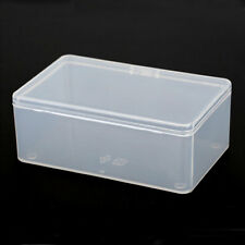 1x Clear Plastic Transparent With Lid Collection Container Case Storage Box