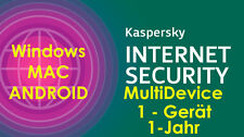Kaspersky Internet Security 2017 MD MAC-WIN-ANDROID+Tablet Smartphone 1-Gerät