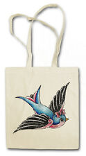 TATTOO SWALLOW HIPSTER BAG - Stofftasche Stoffbeutel Beutel - Pin Up Schwalbe