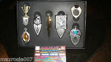 Harry Potter Collection HORCRUX 7 PC BOOKMARK Set Hogwarts Metal Beast BOOKMARKS