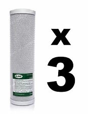"3 x CARBON BLOCK FILTERS FOR REVERSE OSMOSIS UNITS, 10"",RO,WATER FILTER WWBH"