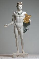 Greek Roman God of Sun & Music APOLLO Alabaster Statue Nude Sculpture Figure 9΄΄