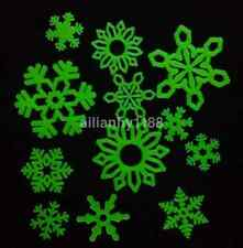 Hot Sale Wall Stickers Snowflakes Glow In The Dark Luminous Fluorescent PVC 12pc