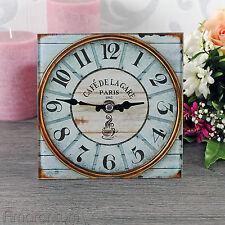 Glasuhr  15 x 15  Standuhr  Kaminuhr  Tischuhr  Küchenuhr  Uhr  Shabby  Vintage