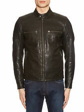 "NEW BELSTAFF ARCHER MENS BLACK LEATHER JACKET SIZE 48 M (38"" Chest) BNWT"