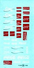 decals decalcomanie deco divers coca cola   1/43