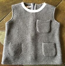 Marni Sweater Vest Size 4 4T Girls Gray EUC Worn Once! Boutique Designer Gray