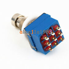 10PCS 9-pin 3PDT Guitar Effects Pedal Box Stomp Foot Metal Switch True Bypass