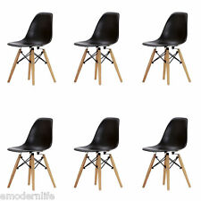 set of 6 . DSW mid century modern dining side chair