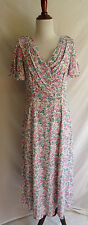 Vintage 80's Lanz Originals Victorial Flower Cloth Retro Hostess Mod Dress