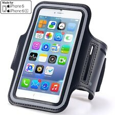 Running Jogging Gym Workout Sport Armband Case Cover for iPhone 6/6s 4.7 (Black)