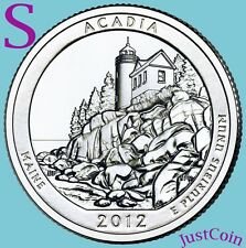 2012-S ACADIA NATIONAL PARK MAINE ATB QUARTER FROM UNCIRCULATED MINT ROLL