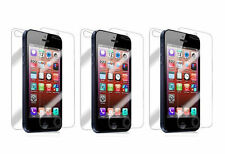 6pc = 3 front + 3 back HD Clear LCD Screen Protector for Apple iPhone 5 #T001