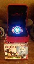Iron Man 3 Led Arc Ring.  Size 10.  New From Sd Comic Con Free U.S. Shipping