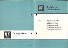 PE Service Manual für Musical 36Z-360-364