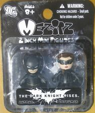 DC Dark Knight Rises 2 Inch Mezitz 2 paks Batman / Catwoman Action Figures NEW