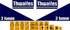 THWAITES 3 TONNE DUMPER DECALS STICKERS