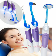 A Dental Hygeine LED Clean Tool Mirror Tooth Stain Eraser Plaque Remover kit set