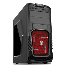AVP STORM 27 BLACK ATX Gaming Tower Case USB 3.0 LED rosso ventola frontale Audio & Mic