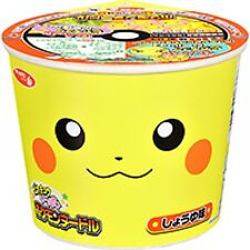 Sapporo Pokemon noodle soy sauce Cup Ramen mini pikachu Kawaii 38g Japan tasty