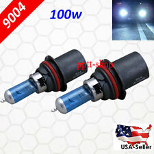 9004 HB1 Halogen 100w Xenon Headlight Bright White 5000K Light Bulb Hi/Lo Beam