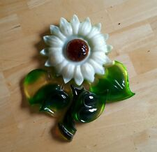 Vintage Mid Century Lucite Acrylic Resin Art Flower Wall Hanging Decor!A++L@@K!