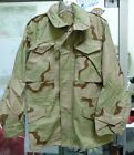 USGI DESERT CAMO M-65 FIELD JACKET COLD WEATHER COAT X-SMALL SMALL X-LARGE NEW