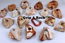 "15 Rock Climbing Hand Holds, Rock Wall Holds, Rock Climbing Holds ""REAL ROCK"""