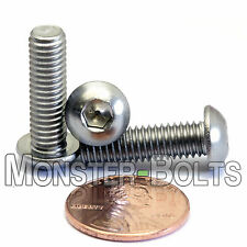 M6 x 20mm - Qty 10 - A2 Stainless Steel BUTTON HEAD Socket Cap Screws - BHCS