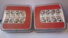 2x 12/24 VOLT 16 LED REAR TAIL LIGHT LAMP TRAILER VAN LORRY TRUCK 4 FUNCTION E4