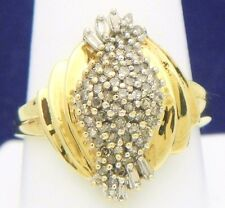 1/2cttw DIAMOND COCKTAIL RING SOLID 10K SOLID GOLD SIZE 10, 4.3g