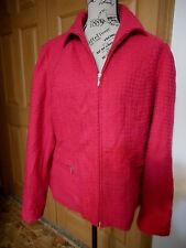 Womens Coldwater Creek Size 14 Pink Textured Jacket