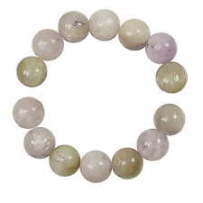 KUNZITE 15MM ROUND NATURAL GEMSTONE BEADS     PK/7