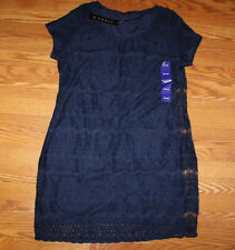 NWT Womens TIANA B. Navy Blue Lace Dress Size XXL 2XL $98