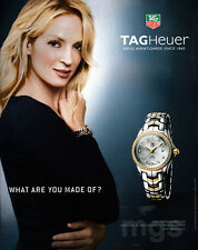 Uma Thurman 1-page clipping Nov 2008 ad for TAGHeuer