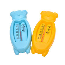 Baby Lovely Plastic Float Floating Bear Toy Bath Tub Water Sensor Thermometer CX