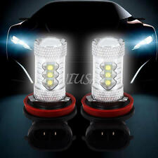 2pcs H11 80W LED Fog Tail Driving Car Head Light Lamp Bulb Super White 6000K Hot