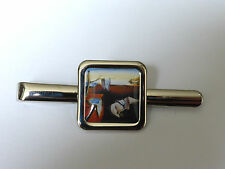 Unique! DALI CLOCKS TIE CLIP chrome CHRISTMAS salvador THE PERSISTENCE OF MEMORY