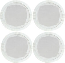 """4 x CEILING WALL SPEAKERS QUICK EASY FIT  35W 8ohm 5"""" 13cm ROUND WHITE 100.031"""