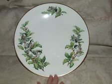 """1976+ BOEHM Chickadees and Holly 10 3/4"""" DINNER Plate Contour Shape SCARCE"""