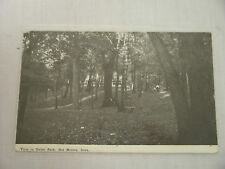 VINTAGE POSTCARD VIEW IN UNION PARK DES MOINES IOWA 1911